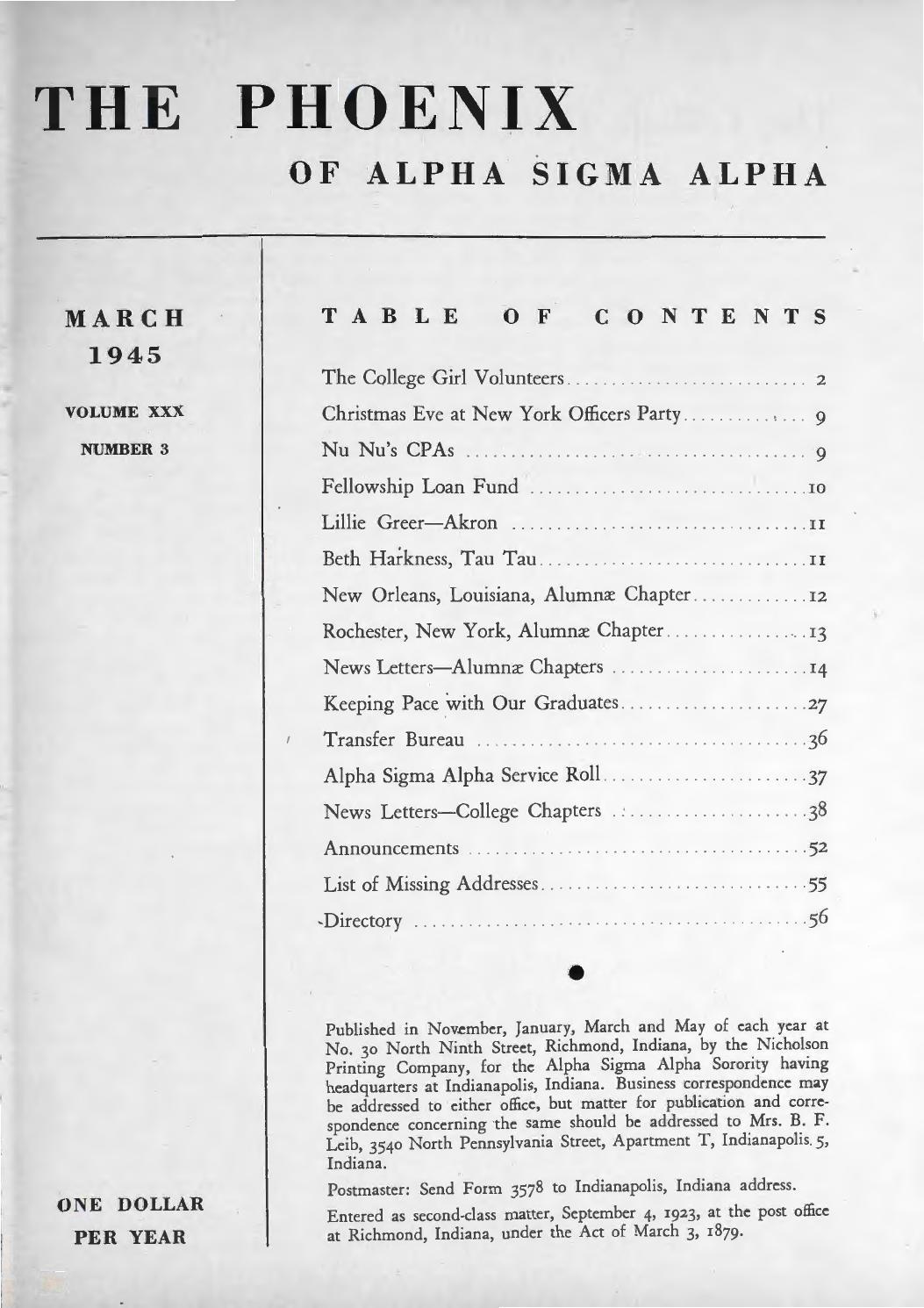 Asa Phoenix Vol 30 No 3 Mar 1945 By Alpha Sigma Sorority Issuu Wiring Up Additional Front Driving Lights Veimg2420jpg