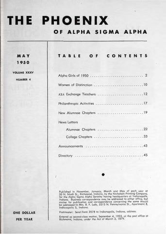 982f415016047 Asa phoenix vol 35 no 4 may 1950 by Alpha Sigma Alpha Sorority - issuu