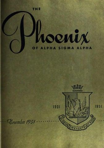 Asa phoenix vol 37 no 1 nov 1951 by Alpha Sigma Alpha Sorority - issuu