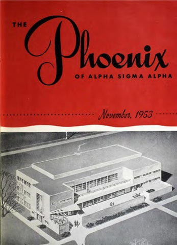 Asa Phoenix Nov 1953 By Alpha Sigma Sorority