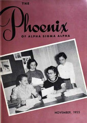 c58dbd2d057 Asa phoenix nov 1955 by Alpha Sigma Alpha Sorority - issuu