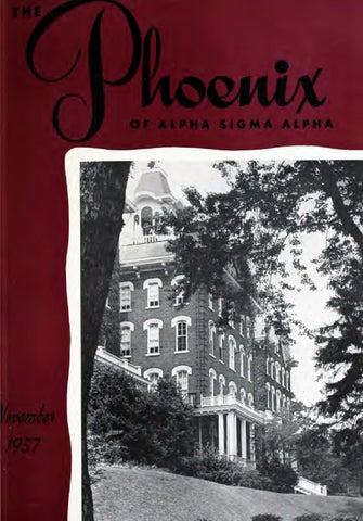 Asa phoenix vol 34 no 1 nov 1948 by Alpha Sigma Alpha Sorority - issuu