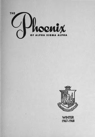 Asa phoenix vol 53 no 2 winter 1967 1968 by Alpha Sigma Alpha ... dd0b4bdfc7a6