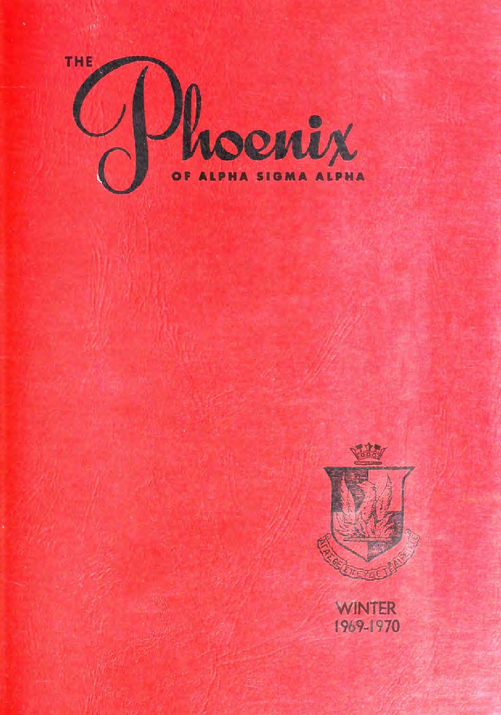 Asa Phoenix Vol 55 No 2 Winter 1969 70 By Alpha Sigma Sorority Xander Coffee Women Cokelat Tua 37 Issuu