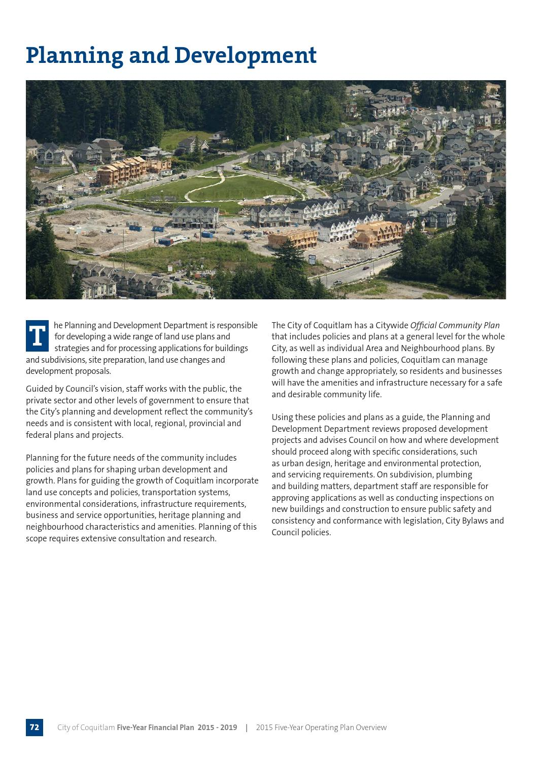 Coquitlam financial plan 2015 by City of Coquitlam - issuu