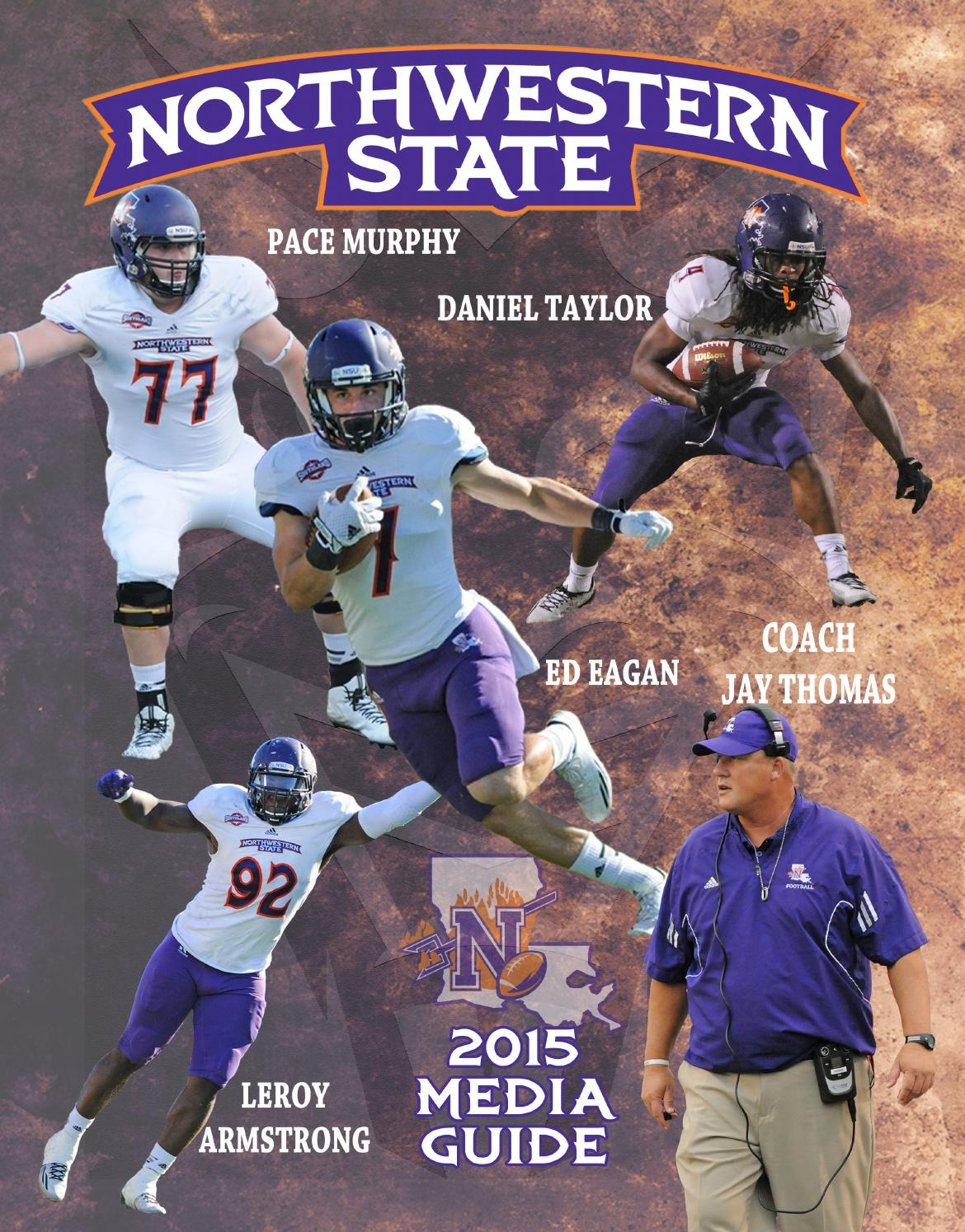 2015 northwestern state football media guide by northwestern state