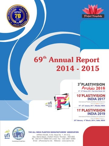 69th Annual Report 2014 15 By Aipma Issuu