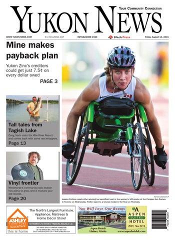 Yukon News, August 14, 2015