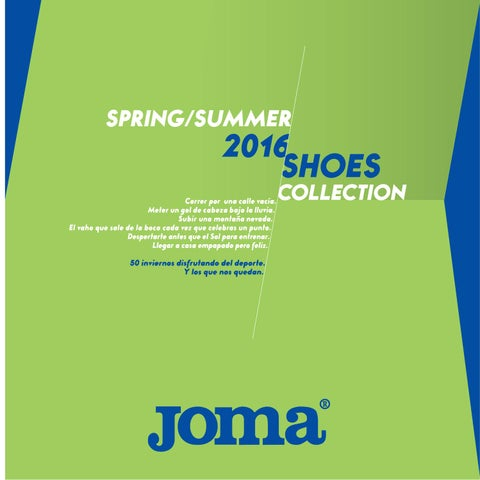 Joma Shoes Spring Summer 2016 by JOMA SPORT - issuu 1850df001d8a3