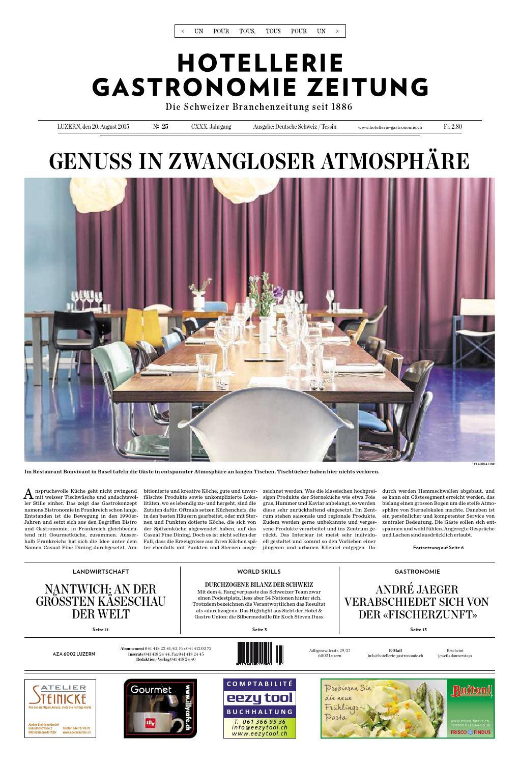HG Zeitung 25/2015 By Hotellerie_Gastronomie_Verlag   Issuu