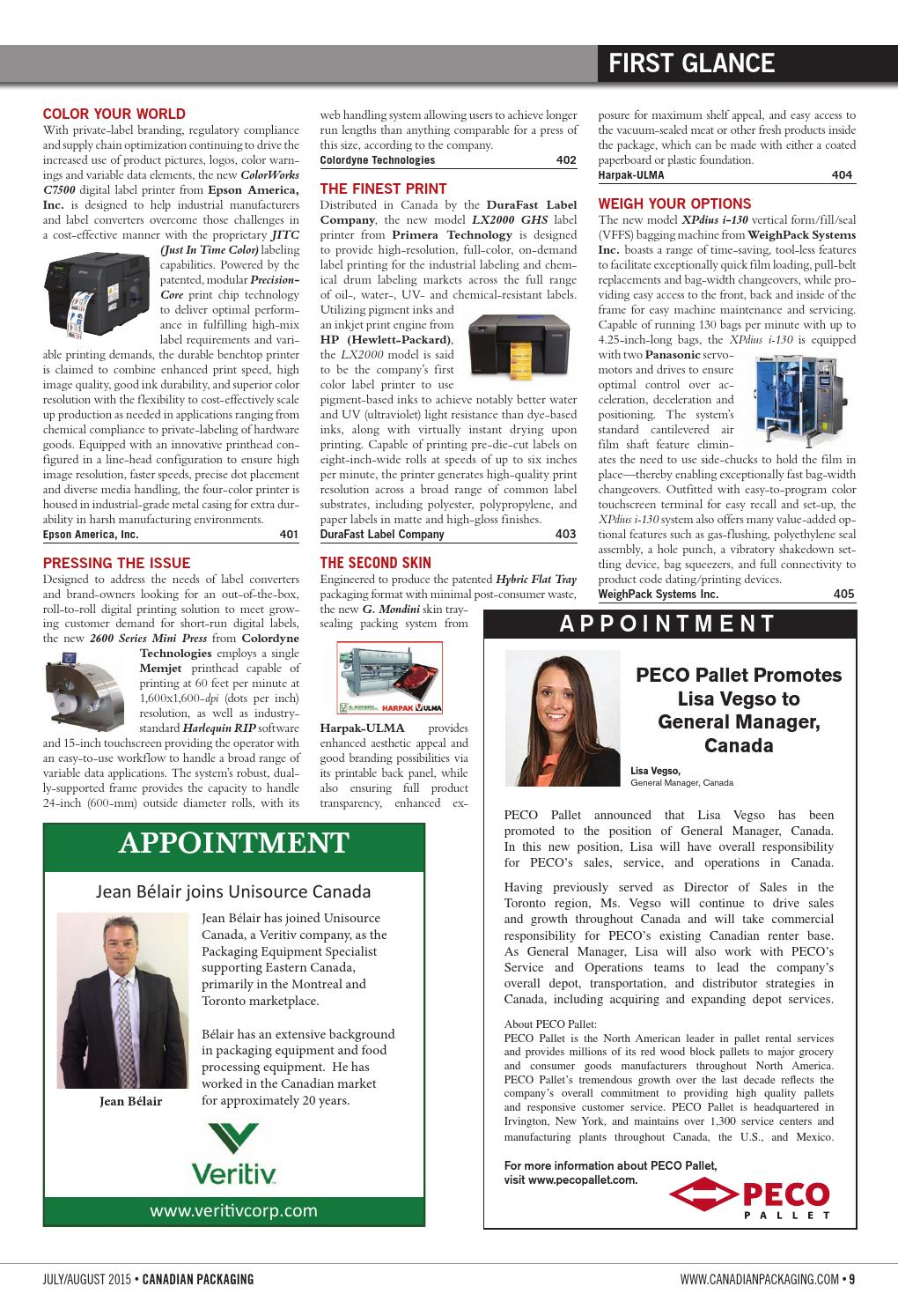 Canadian Packaging July/August 2015 by Annex Business Media