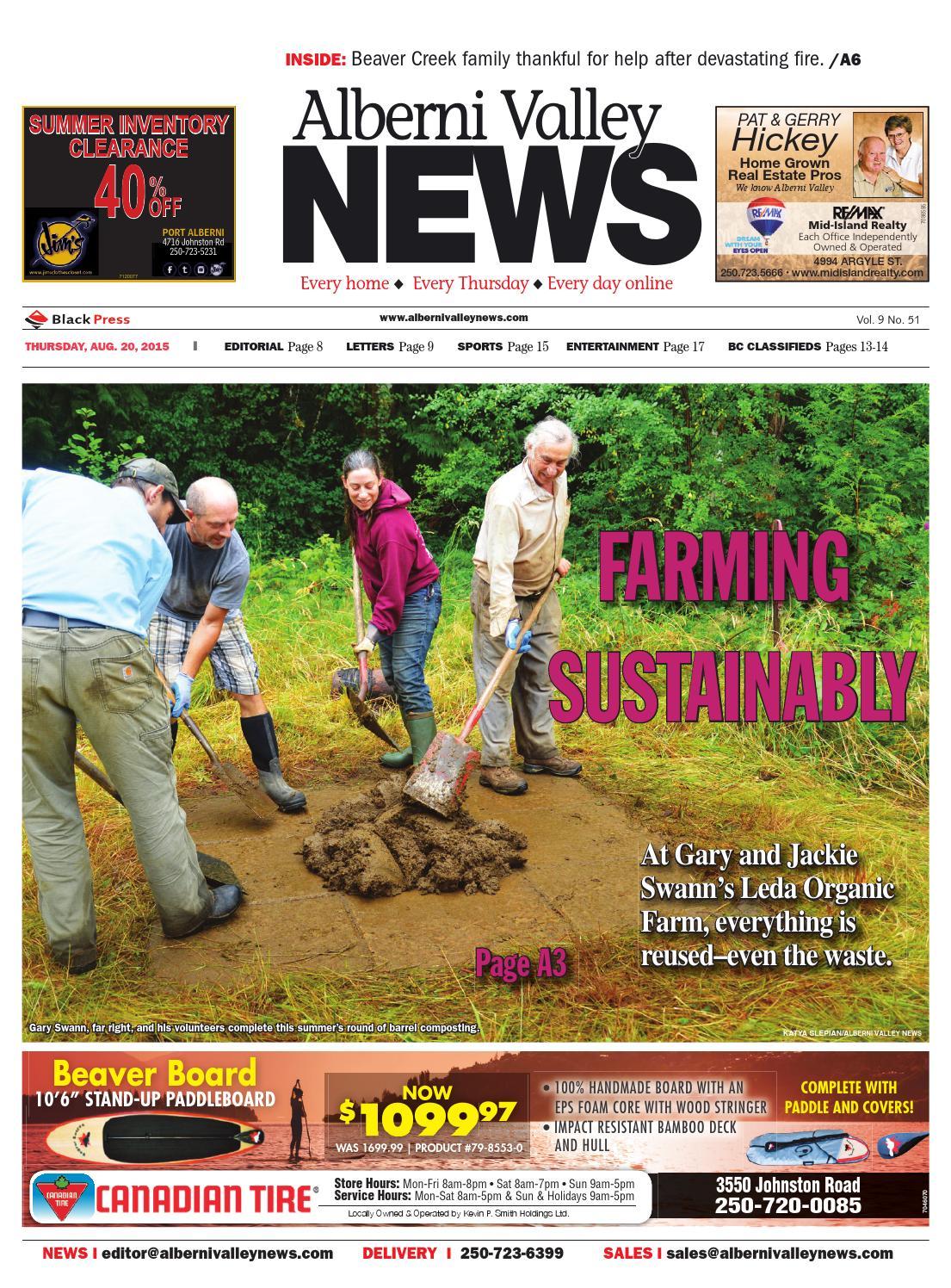 Alberni Valley News, August 20, 2015 by Black Press Media