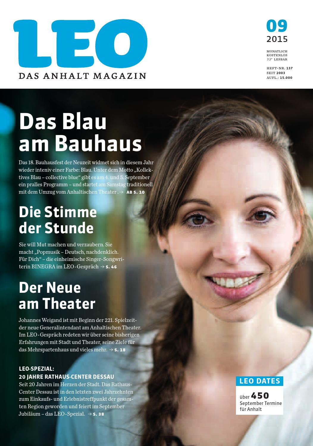 LEO September 2015 by LEO – Das Anhalt Magazin - issuu