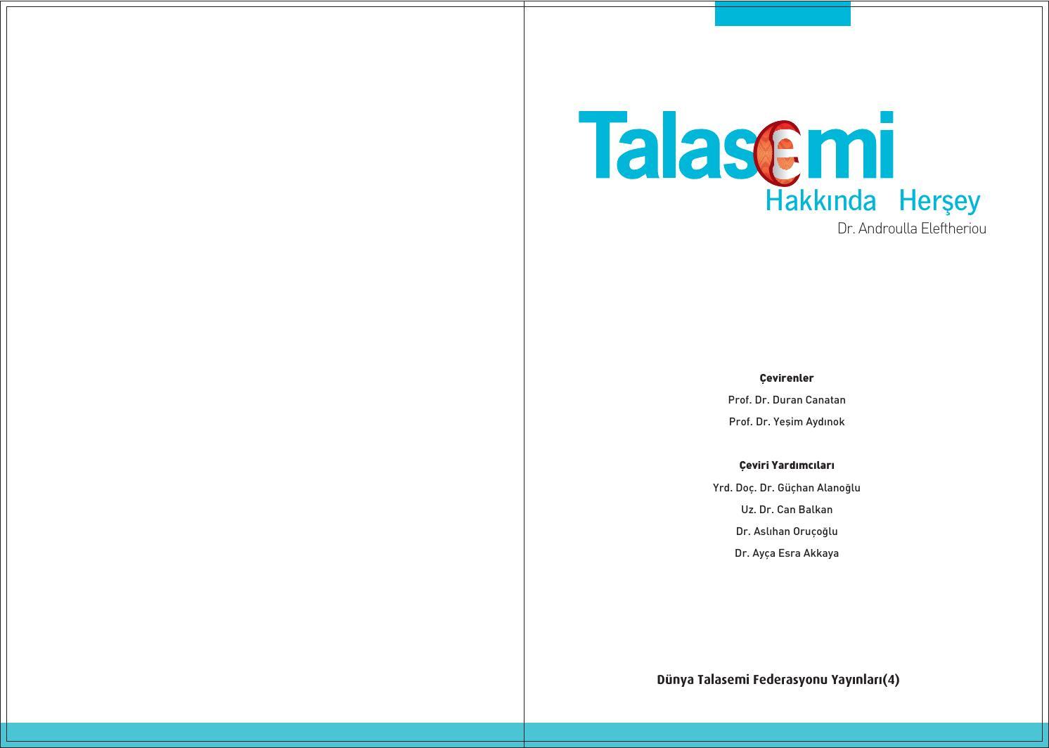 About Thalassaemia Turkish By Thalassaemia International