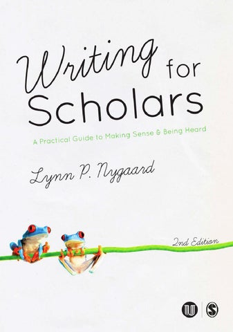 Writing for scholars 2  utg by Universitetsforlaget - issuu