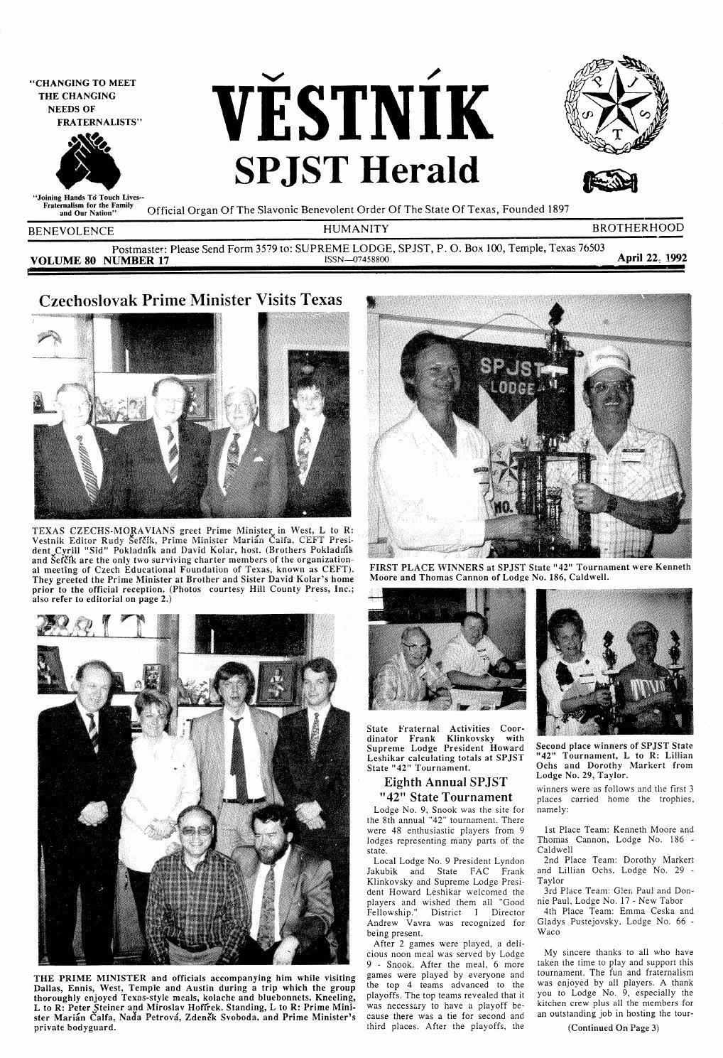 Vestnik 1992 04 22 by SPJST - issuu
