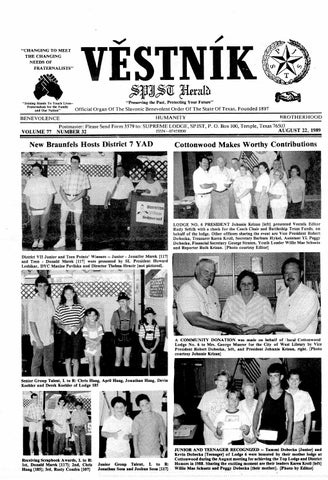 e8a01f09ef6 Vestnik 1989 08 22 by SPJST - issuu