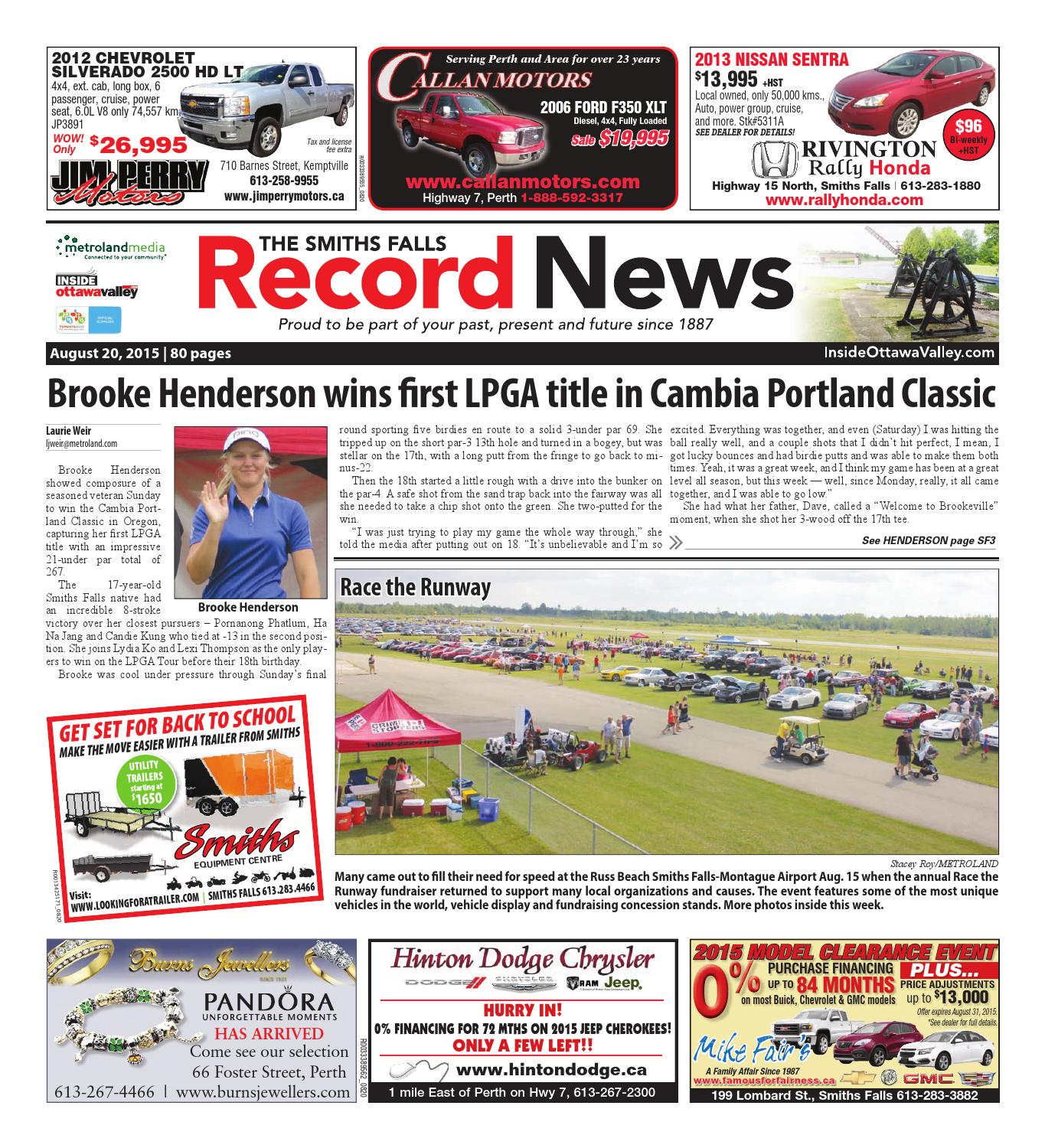 Smithsfalls082015 by Metroland East - Smiths Falls Record News - issuu
