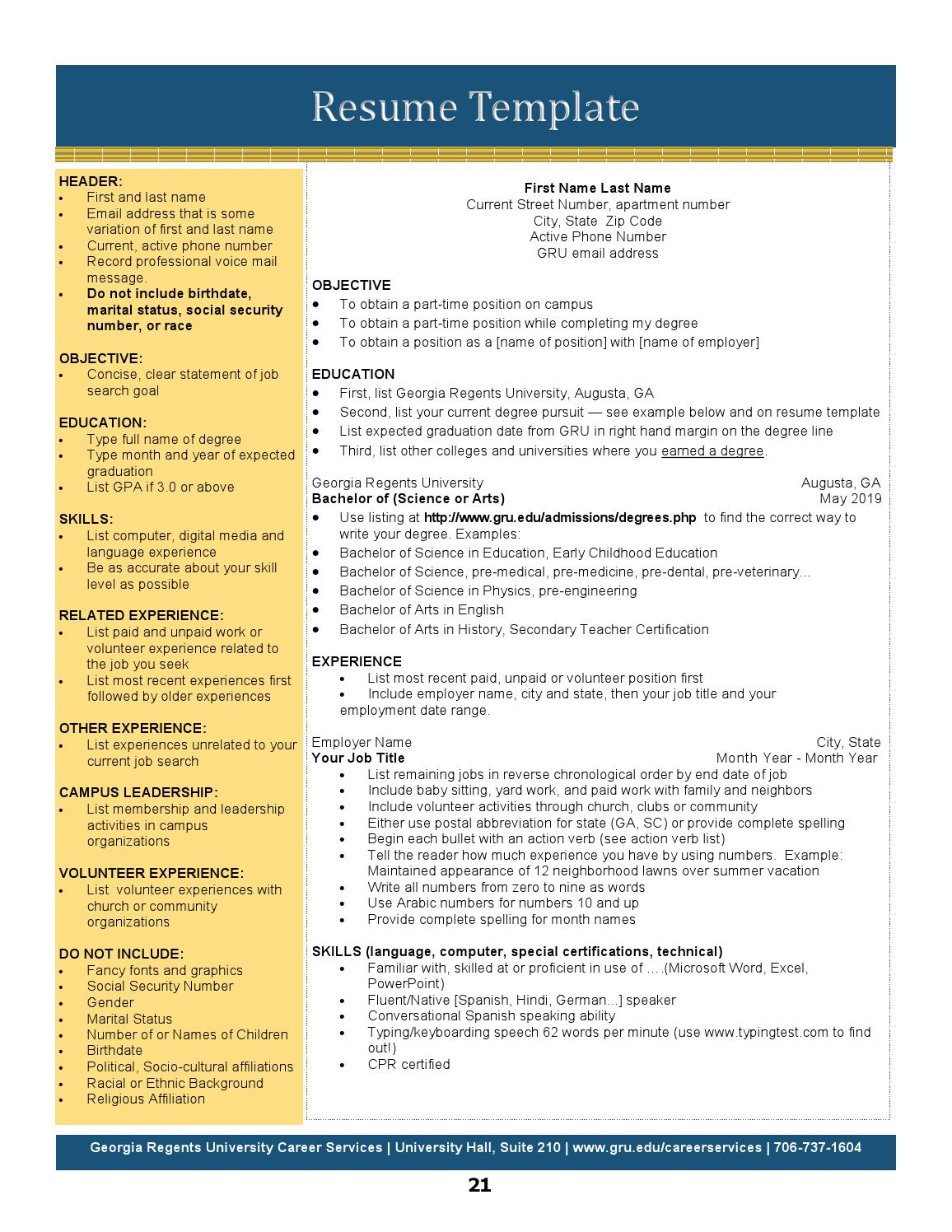 Gru Career Services Career Guide By Augusta University Issuu
