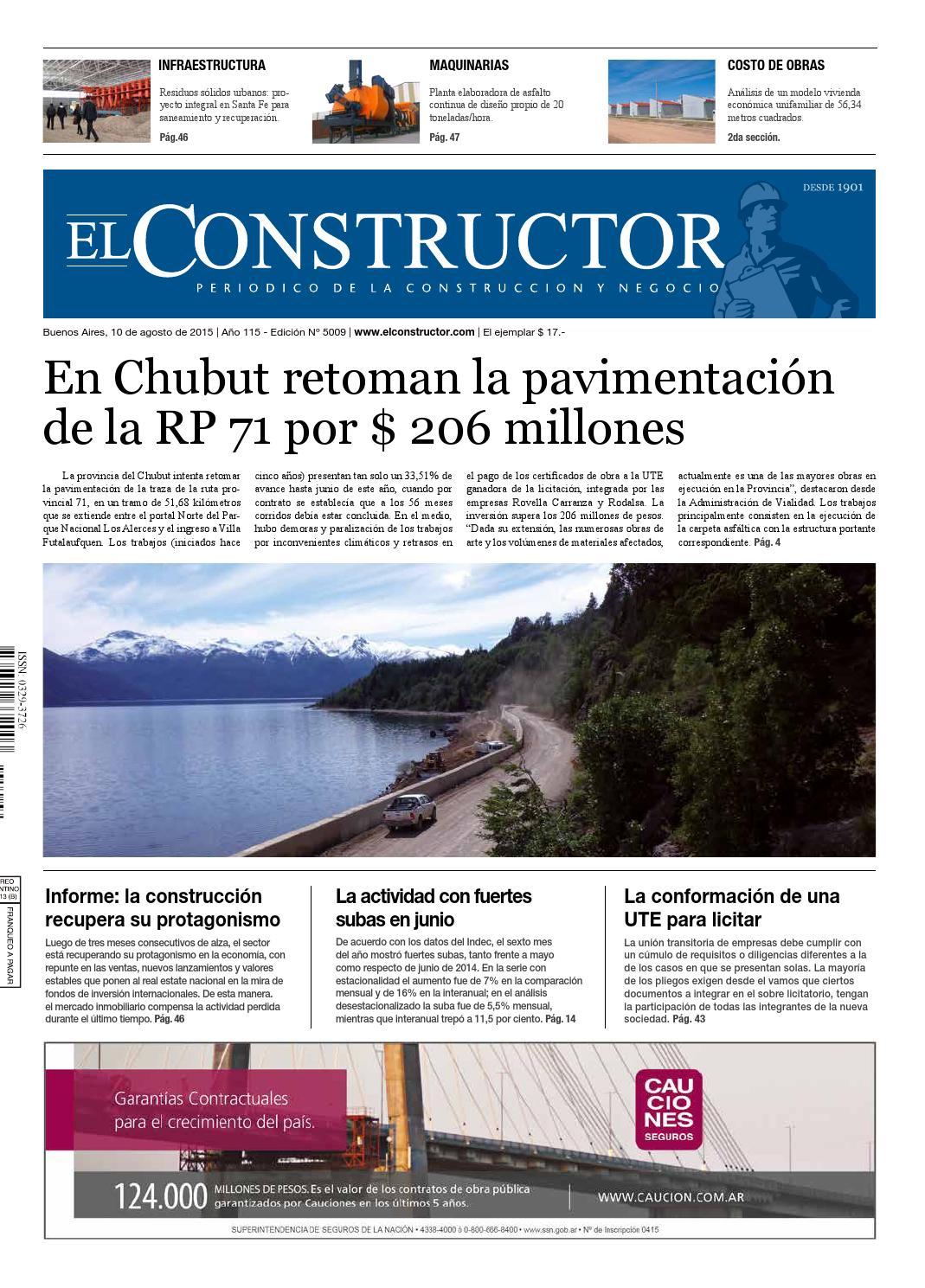 El Constructor 10/08/2015 - N° 5009 Año 115 by ELCO Editores - issuu