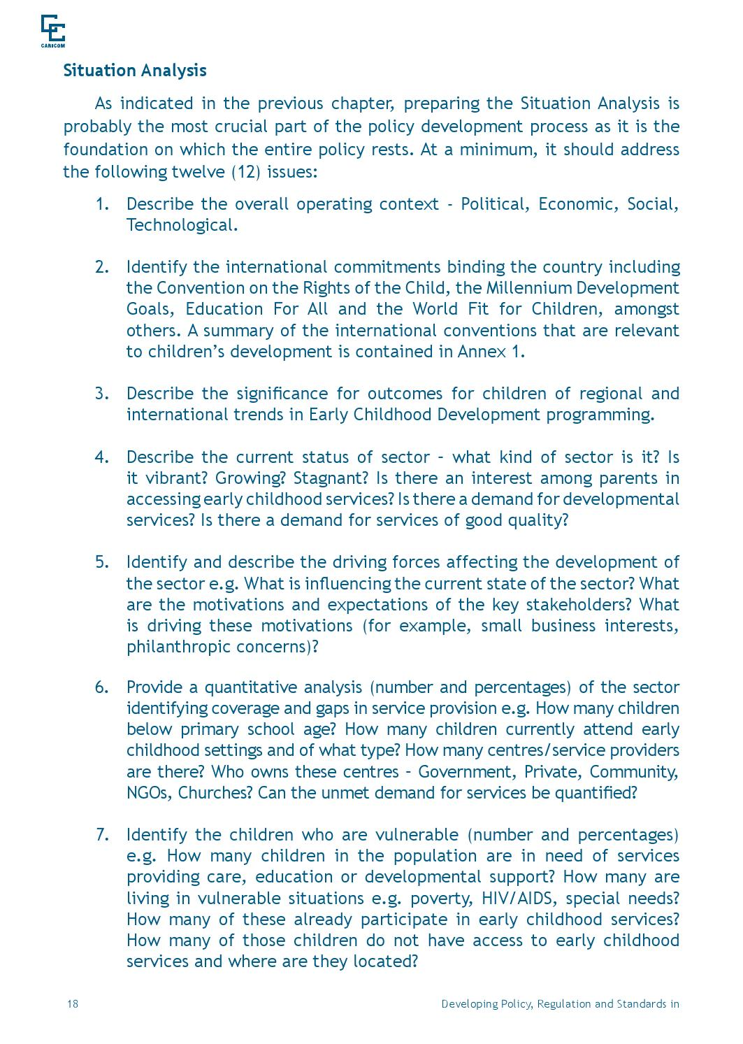 Early Childhood Development Guidelines By Caribbean Community
