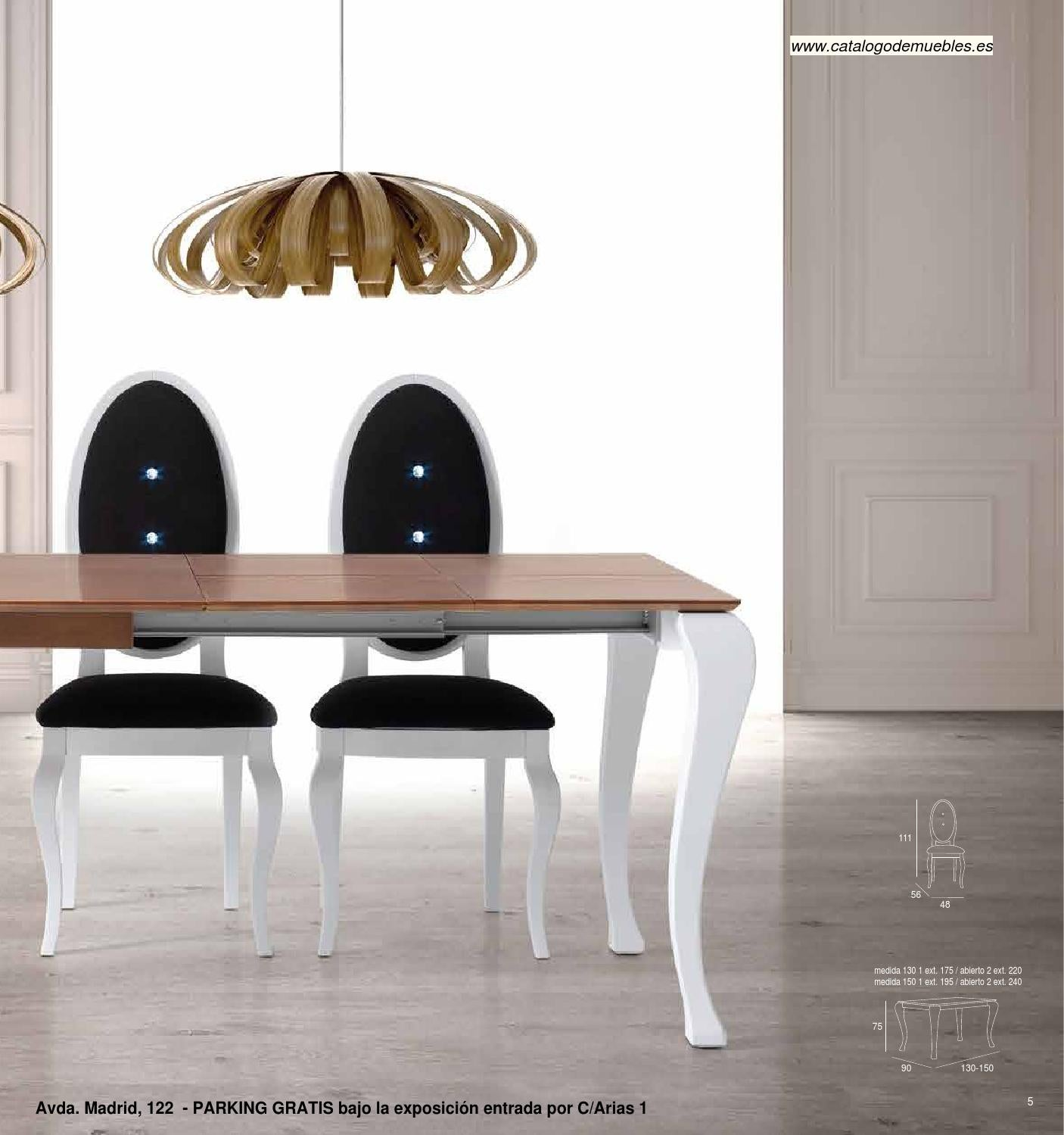 Cat logo mesas sillas by cat logo de muebles novedades for Catalogo de sillas