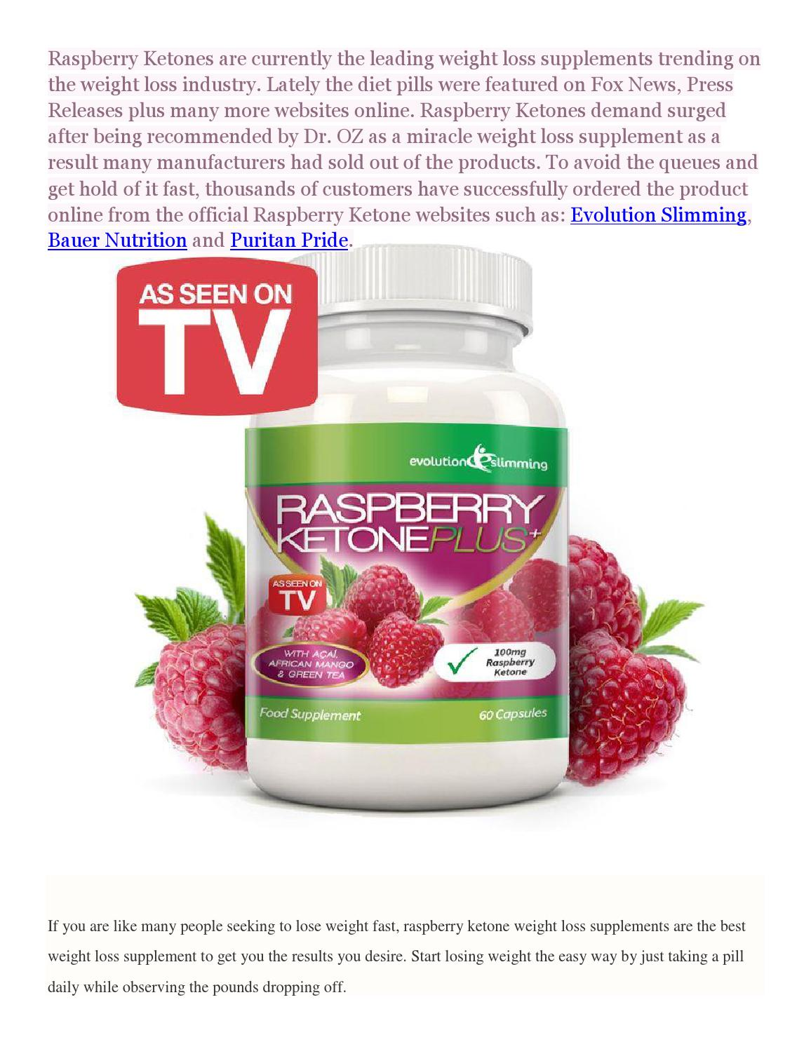 Raspberry Ketones Weight Loss Supplement Review Side Effects By Ledhealthandfitness Issuu