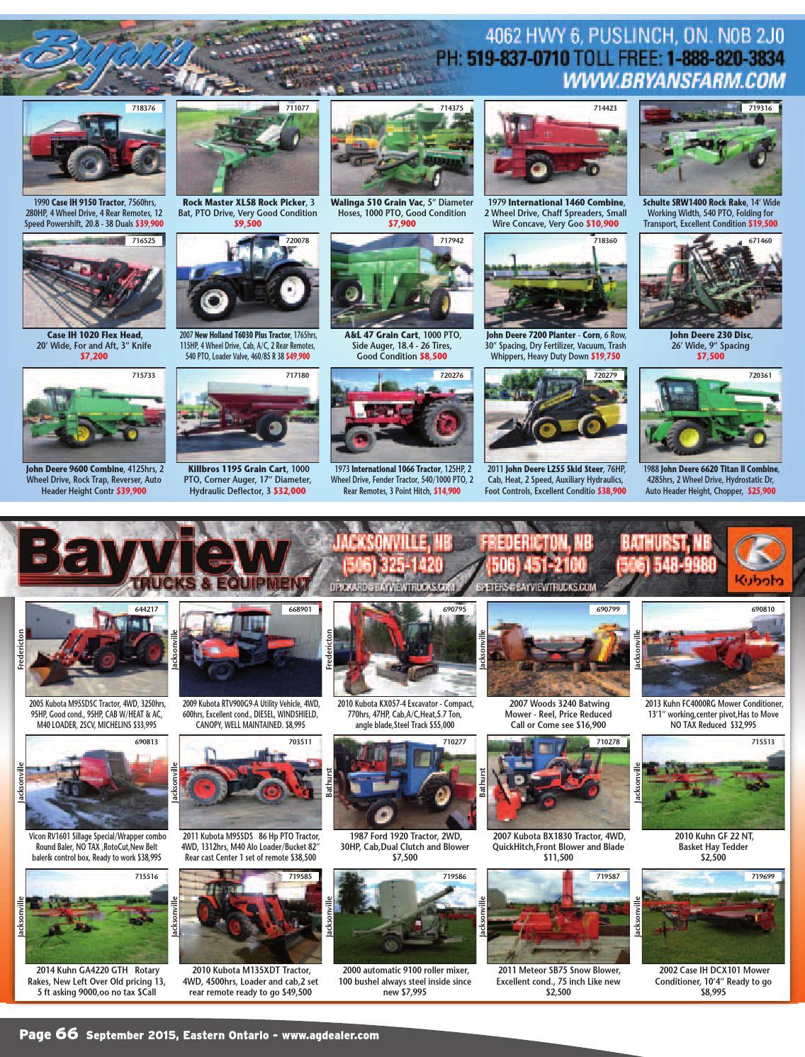 AGDealer Eastern Ontario Edition, September 2015 by Farm