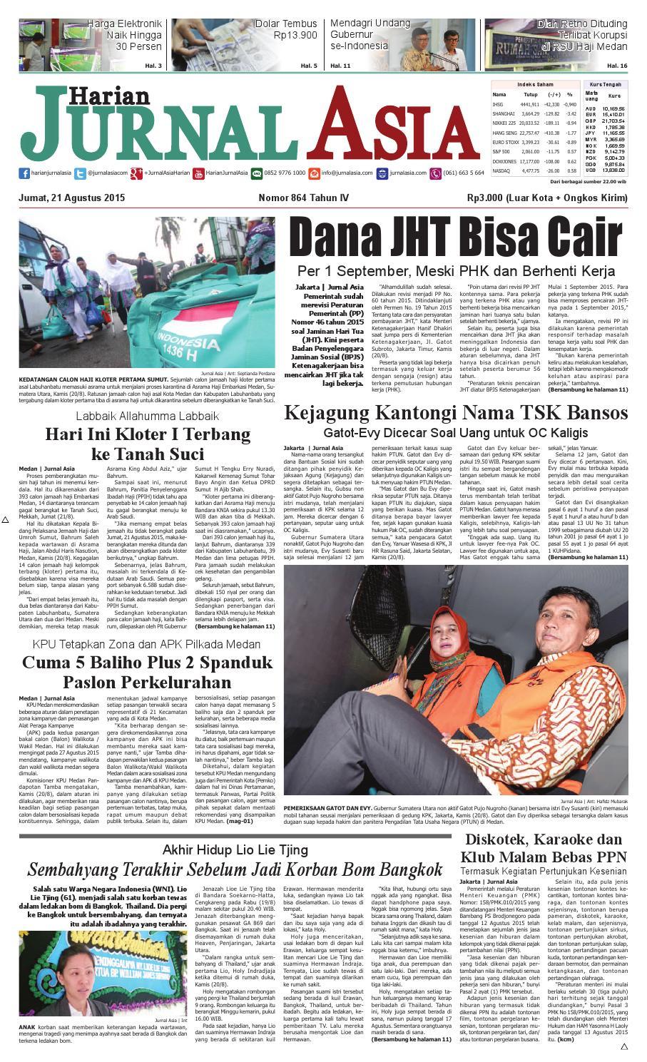 Harian Jurnal Asia Edisi Jumat 21 Agustus 2015 By Produk Ukm Bumn Chesse Pie Khas Balikpapan Medan Issuu