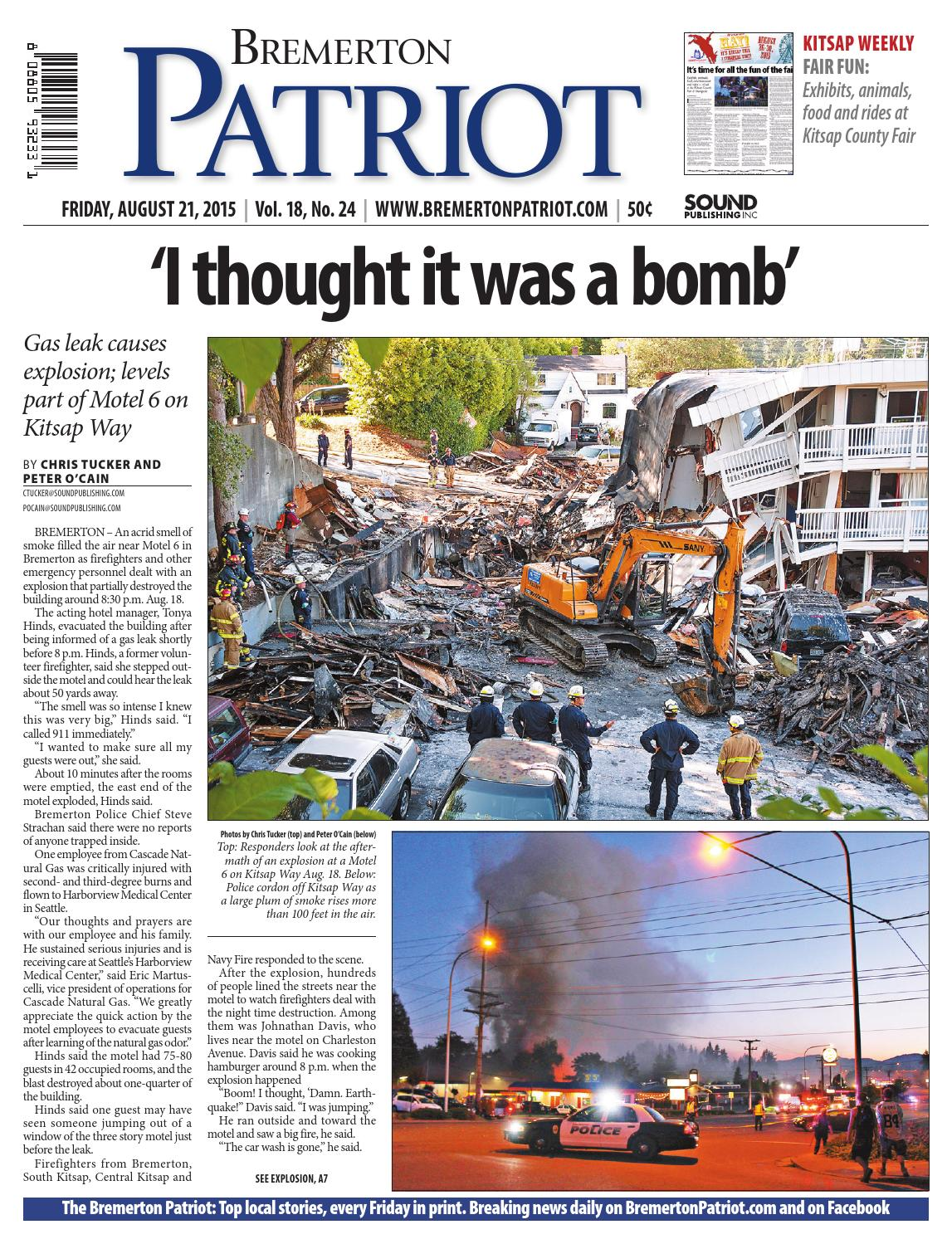 Bremerton Patriot, August 21, 2015 by Sound Publishing - issuu