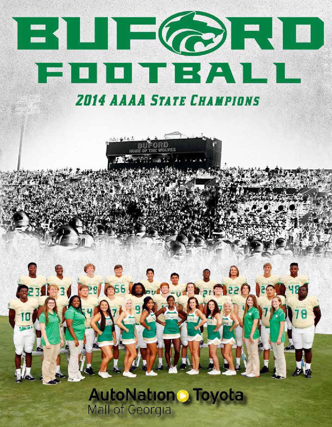 Buford High School Football Program 2015 by Buford High