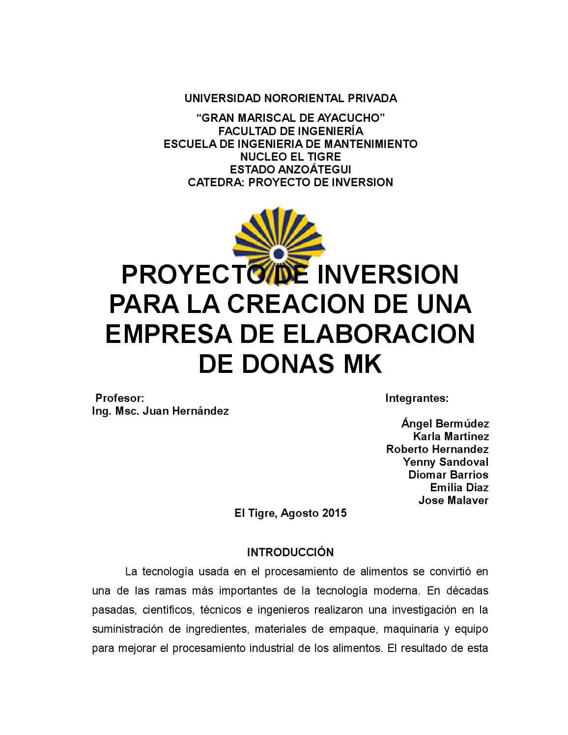 1cf089bf34b Proyecto de donas by Angel Bermudez - issuu