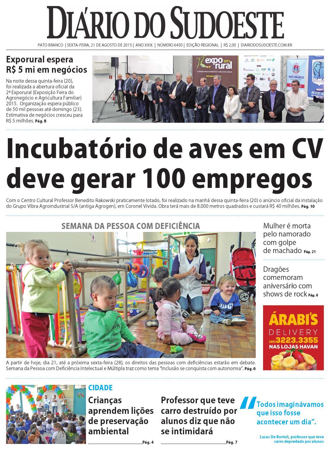 Diário do sudoeste 21 de agosto de 2015 ed 6450 by Diário do Sudoeste -  issuu 65dcfbcab1f0d