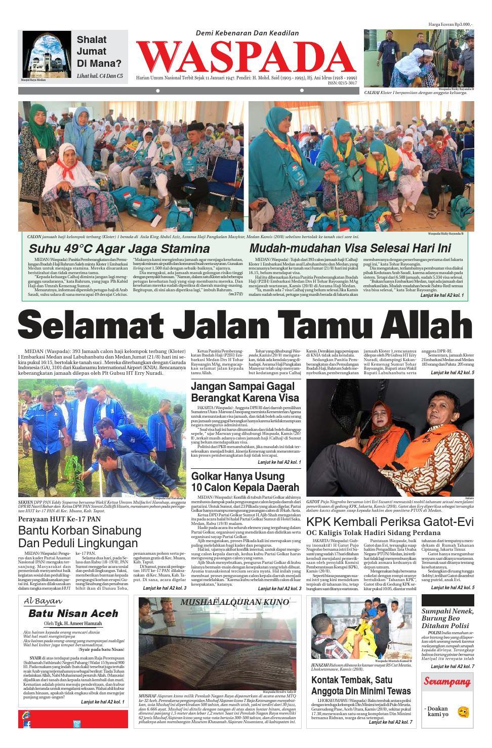 Waspada Jumat 21 Agustus 2015 By Harian Waspada Issuu