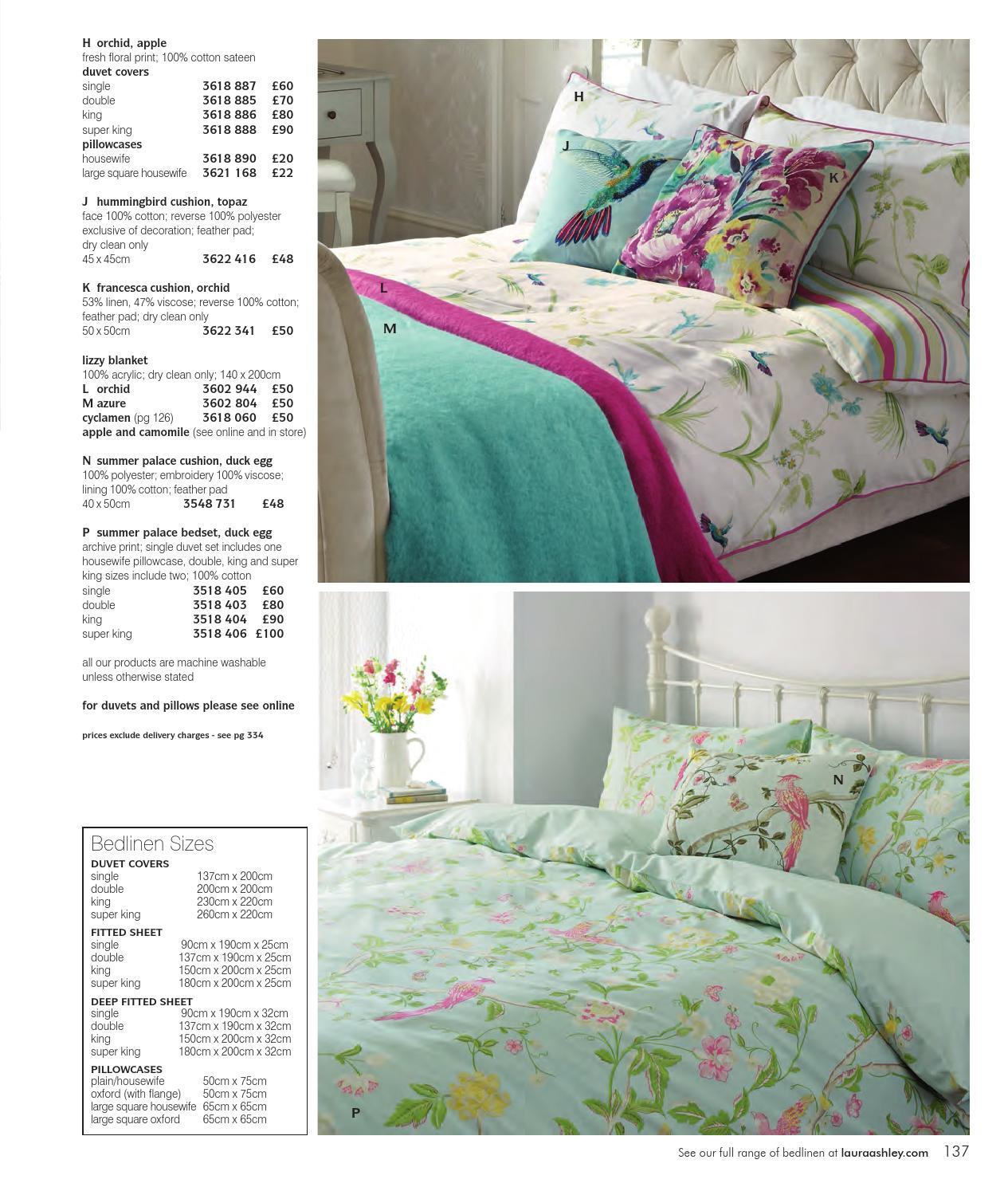 Pillowcases Laura Ashley Summer Palace