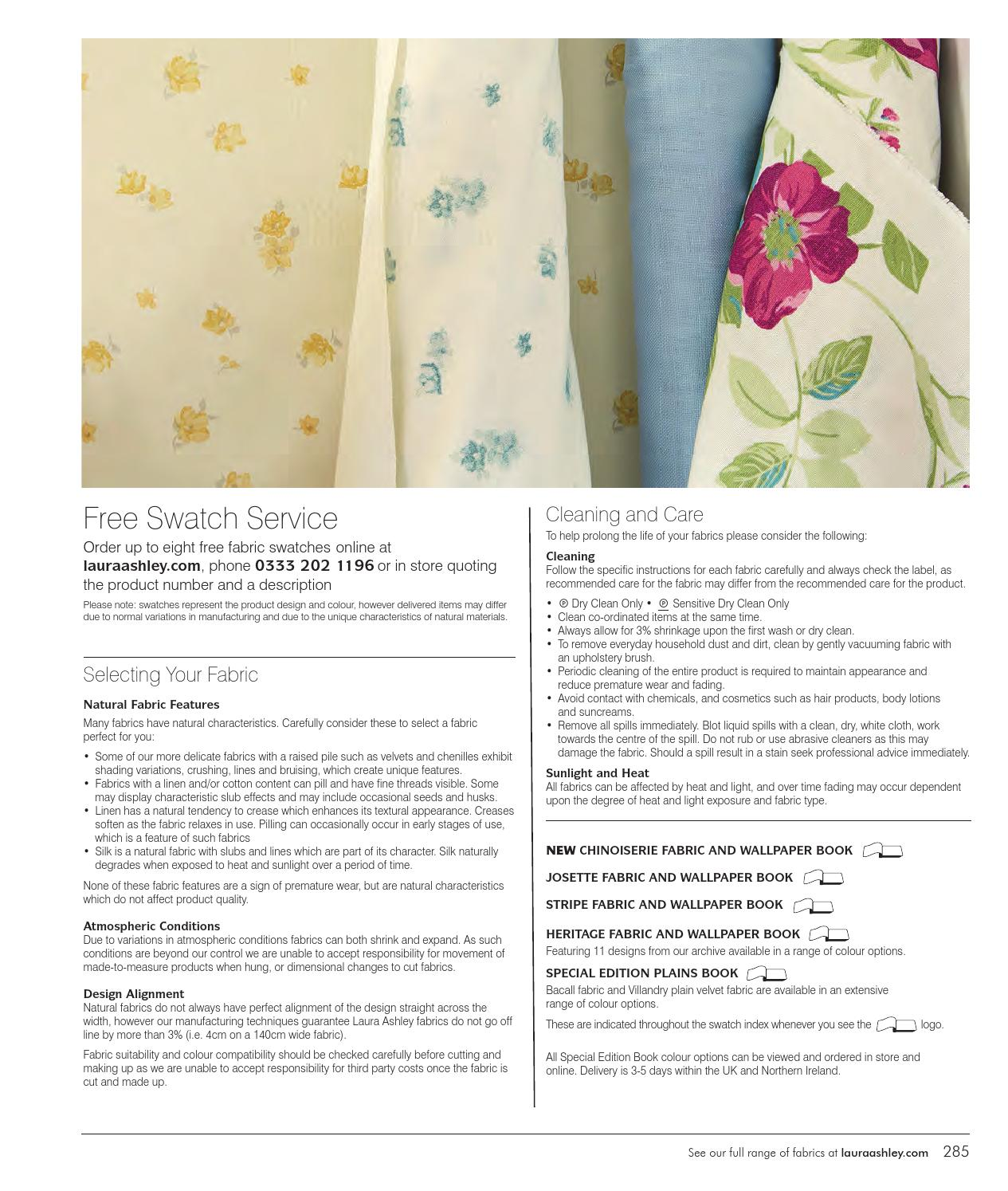 Laura ashley material swatches