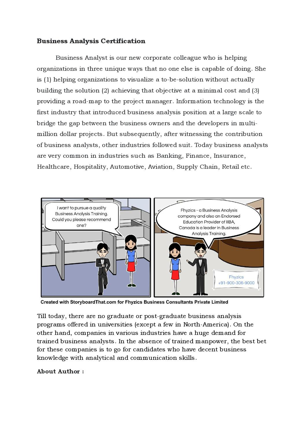 Business Analysis Certification By Kayathri Issuu