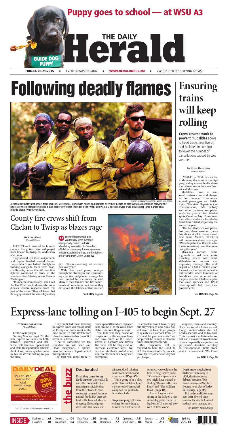 Everett Daily Herald August 21 2015 By Sound Publishing Issuu