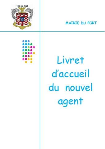 e44ac20ec6b Livret d accueil d un nouvel agent by Ville de Le Port Ville de Le ...