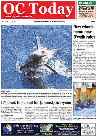 8/21/15 Ocean City Today by ocean city today - issuu