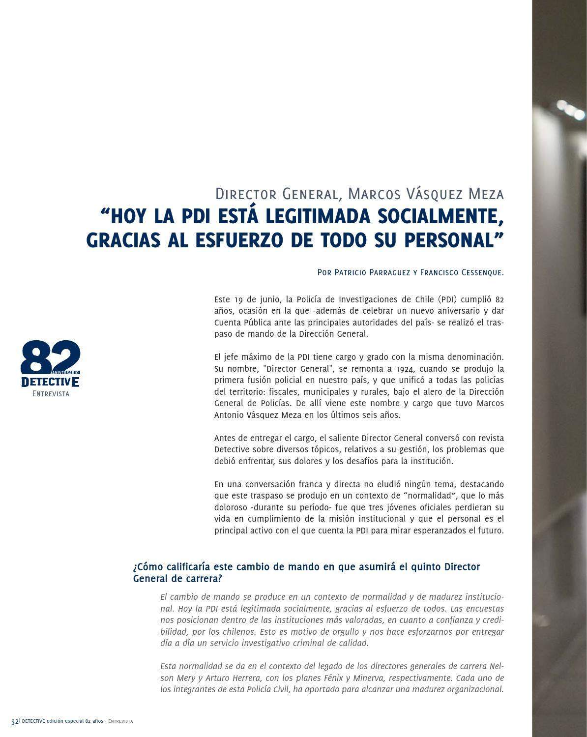 Revista Detective Edición N° 165 by Policía de Investigaciones de ...
