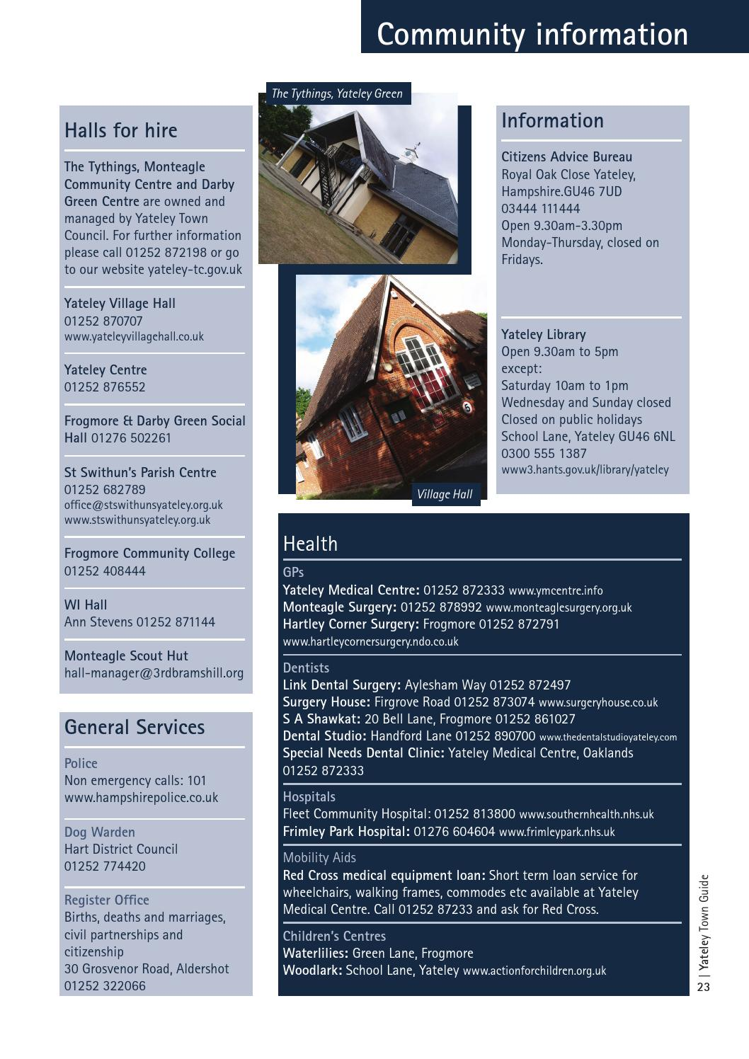 Yateley Town Guide 2015 16 by Heritage Guides - issuu