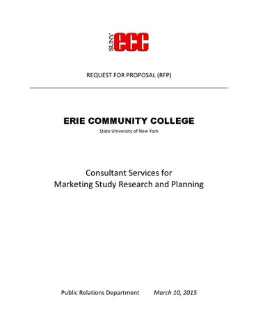 RFP for ECC Market Research and Planning by SUNY Erie - issuu