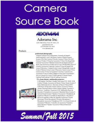 ef9ae65736cc Camera Source Book by Federal Buyers Guide