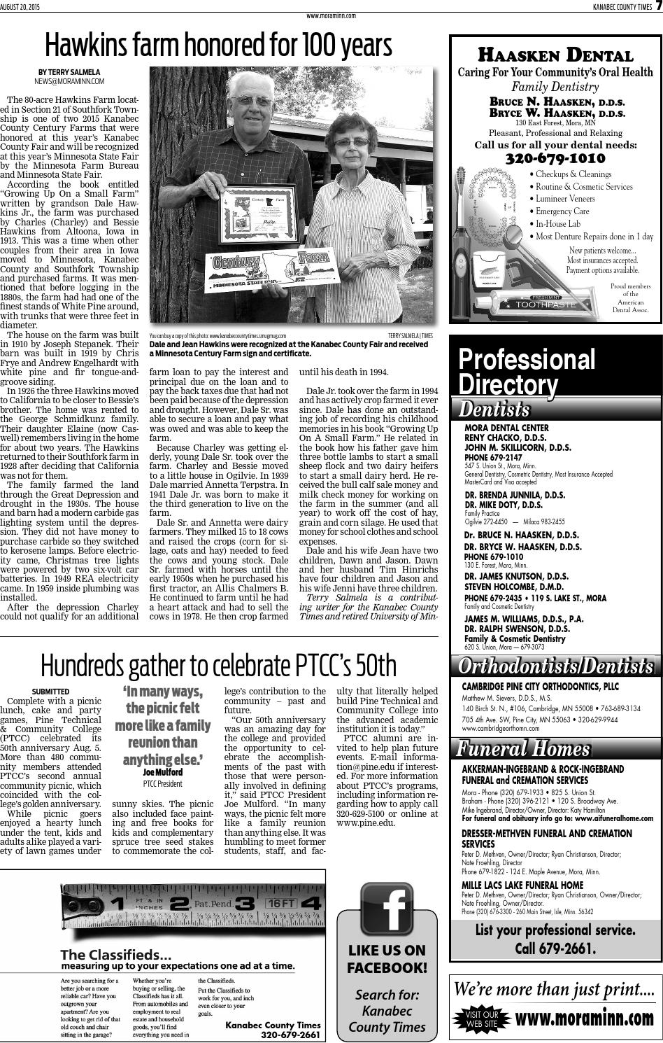 E edition August 21, 2015 by Kanabec County Times - issuu