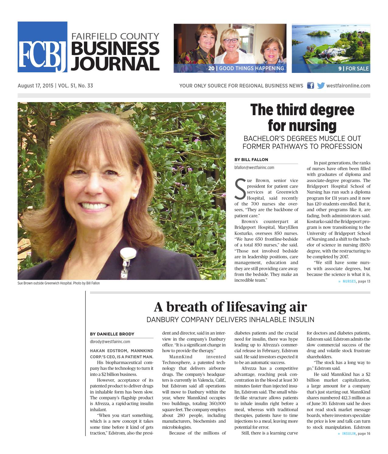Fairfield County Business Journal 081715 By Wag Magazine Issuu