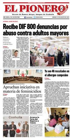 21 Agosto 2015 by Periódico El Pionero - issuu