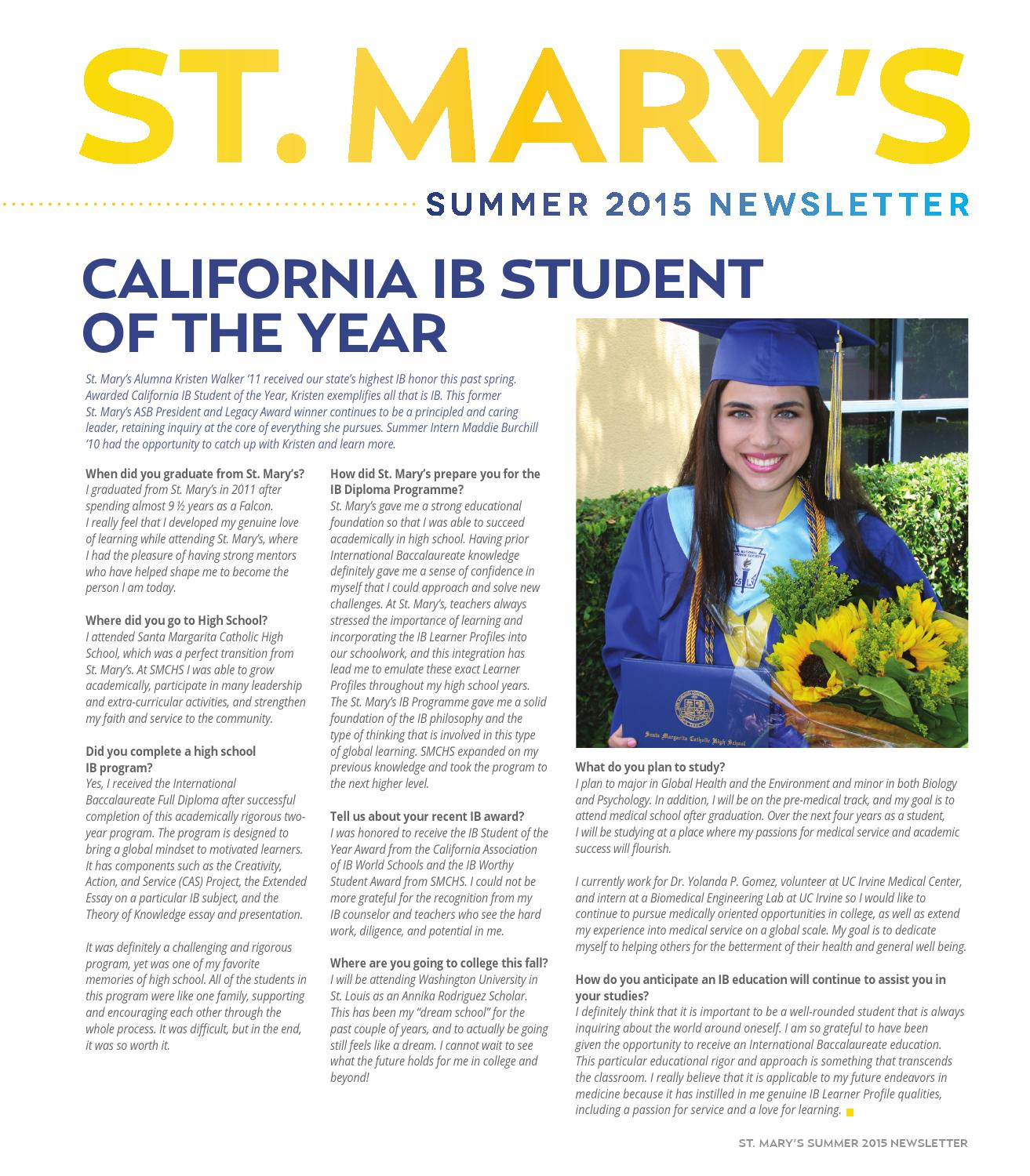 Summer 2015 Newsletter by St  Mary's School - issuu