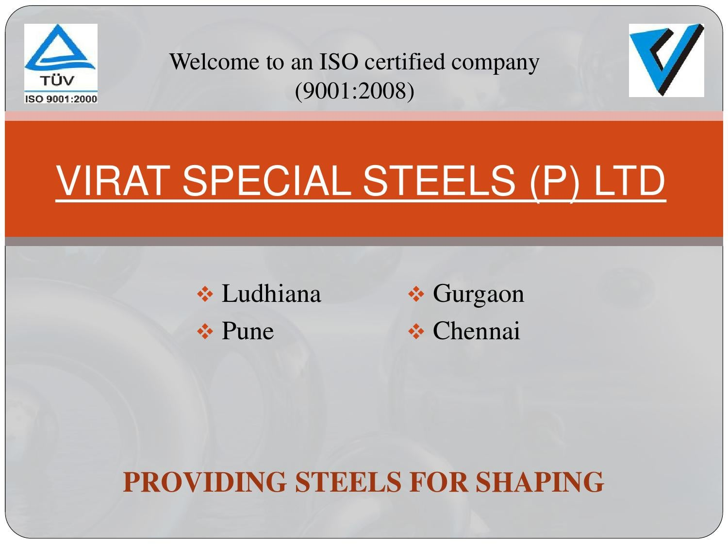 Virat special steels (p) limited by VIRAT SPECIAL STEELS (P
