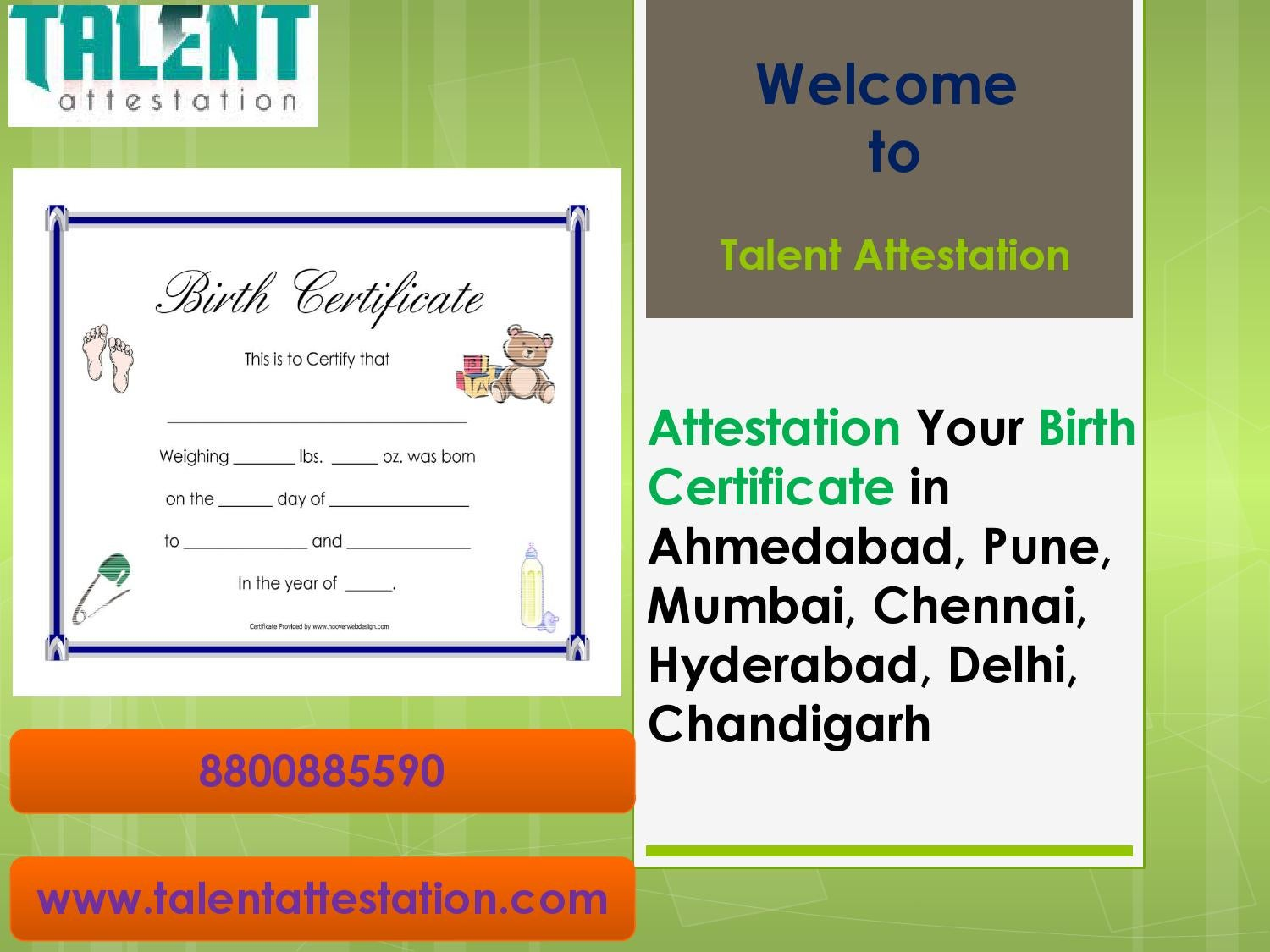 Attestation Your Birth Certificate In Ahmedabad Pune Mumbai